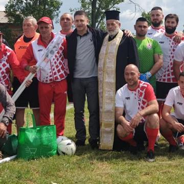Отборът на ГЕРБ-СДС в област Кюстендил на зрелищен мач в село Червен брег