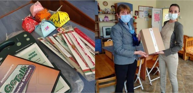 """Баба Марта донесе комуникатор на децата от дневен център """"Вяра, надежда и любов"""" в Кюстендил"""