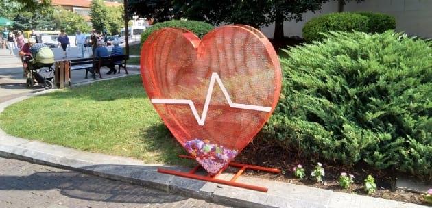 В Дупница поставиха метално сърце за събиране на капачки