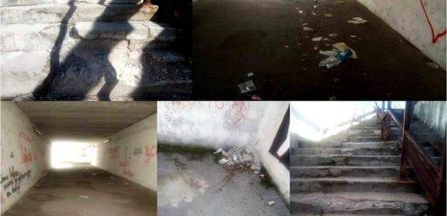 Жители на Байкал настояват за ремонт на стълбите и  чист подлез