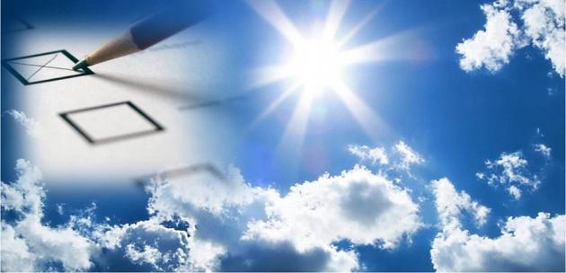 Слънчев и горещ изборен ден