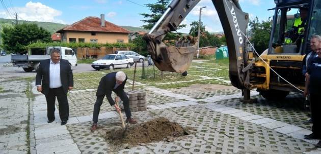 Направиха първа копка на нов площад в с. Джерман (+АУДИО)
